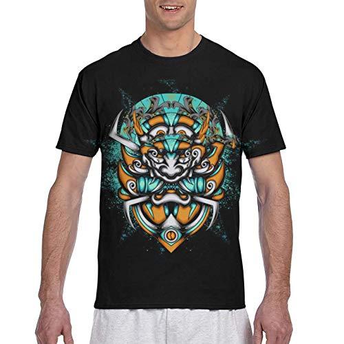 Camiseta de manga corta con estampado en 3D, estilo informal, con cuello redondo, para el hogar o el gimnasio
