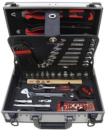 TrendLine Werkzeugkoffer 91 teilig Chrom-Vanadium, Wekzeugset, Werkzeugkasten