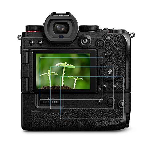 Protector de pantalla S5 compatible con cámara Panasonic LUMIX S5 de marco completo sin espejo (3 unidades), FANZR 0,3 mm 9H de vidrio templado de dureza