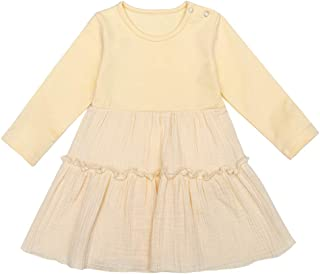 Xinlykid Toddler Baby Girl Dresses Floral Tutu Skirt Knitted Tulle Long Sleeve Princess Dress Outfits Clothes Set