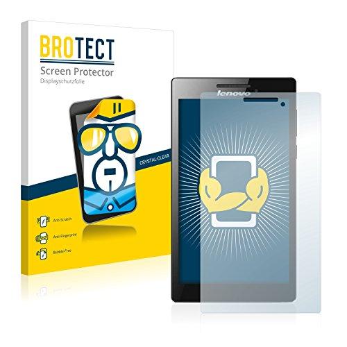 BROTECT Schutzfolie kompatibel mit Lenovo Tab 2 A7-30 (nur Kamera rechts) (2 Stück) klare Bildschirmschutz-Folie