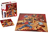 Masters of The Universe Mattel Jigsaw Puzzle with 500 Interlocking Pieces and Mini-Poster Featuring He-Man and Skeletor, Gift for Collectors and Kids Ages 8 Years Old and Up