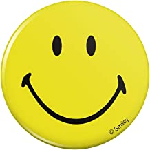 Smiley Smile Happy Yellow Face Pinback Button Pin Badge