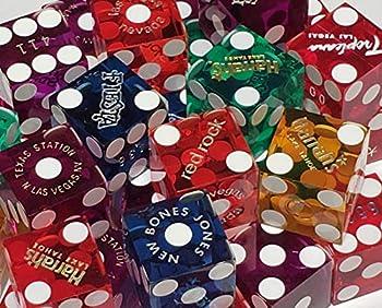 Cyber-Deals Authentic Las Vegas & Nevada Casino Table-Played Craps Dice 19mm - Randomly Bundled Pairs
