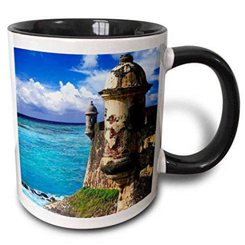 3dRose Puerto Rico, Juan, Fort San Felipe del Morro-CA27 MGL0047-Miva Stock Mug, 11 oz, Black