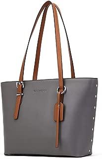 WESTBRONCO Women Leather Handbags Purses Designer Tote Shoulder Bag Top Handle Bag for Work Travel