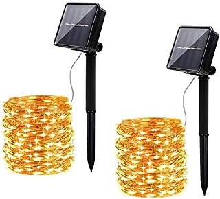 Innoo Tech [2 Pack] Solar String Light Outdoor, 12M 120 LED Fairy Light, 8 Mode Waterproof Copper Wire Solar Light Chain D...
