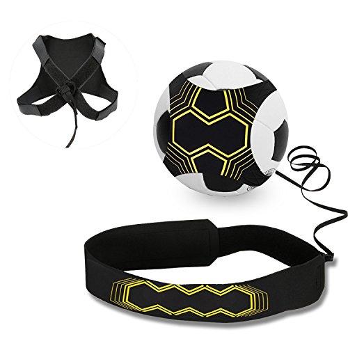 Mopalwin Fußball Kick Trainer, Solo Fußball Trainer Solo mit Verstellbarem Taillengürtel Aid Control Skills Soccer Practice Training für Kinder Anfänger Kick Off Trainer