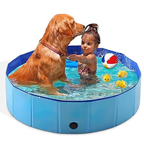 WEIMIN Faltbares Haustier-Planschbecken für Hunde und Katzen, tragbar, für den Außenbereich