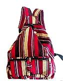 Terrapin Trading HIPPY BRIGHT GUATEMALA IMPORT MAYA BACKPACK FESTIVAL SAC DE VOYAGE M60 (RED)