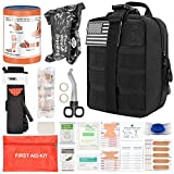 Brightify IFAK Trauma Kit, Emergency First Aid Kit, 60Pcs Tactical Molle IFAK for First Aid Response