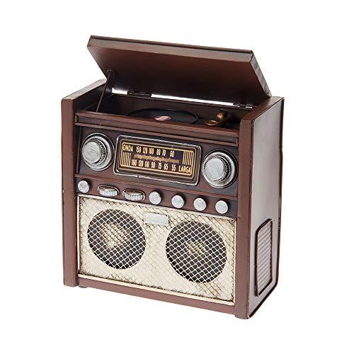 Spardose aus Blech - im Antik-Vintage-Retro-Style - Spardose Radio, braun