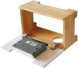LULUDP Scatola di archiviazione Wireless Gli organizzatori Spina a Muro Cable Box in Legno massello Soggiorno Set-Top Pres...