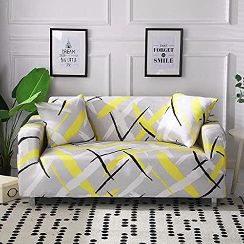 PPOS Fundas de sofá elásticas para sofá Universal elásticas a Cuadros Fundas de sofá elásticas para Sala de Estar Sofá Silla Funda de sofá Decoración para el hogar A15 Loveseat 145-185cm-1pc