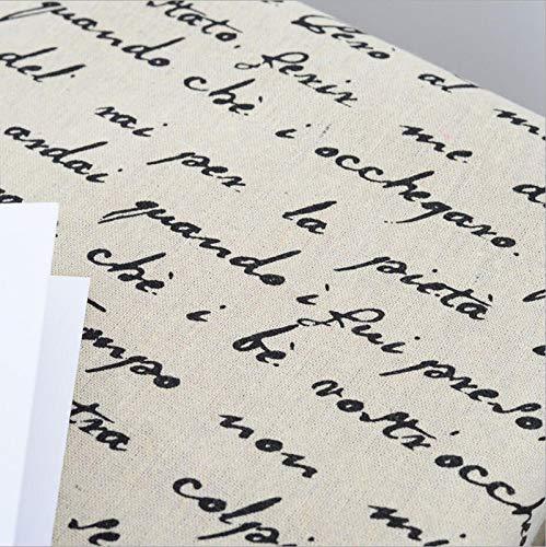 ONECHANCE Tela de Algodón y Lino Estampada por Metros para Manualidades Costura Proyectos de Bricolaje 100x150cm Color Carta Francesa Size 2 Metros