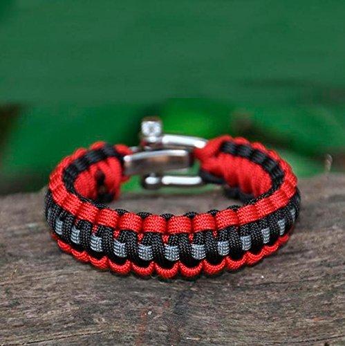 Corde de parachute Pull tricoté/randonnée Camping/U Boucle de ceinture Régler Escape Bracelet, 2