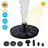 Upgraded 2W Floating Solar Fountain Pump,180L/H Solar Water Pump for Bird Bath,Free Standing