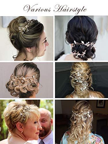 SWEETV Bridal Headband-Gold