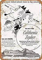 TISAGUER ブリキ看板1955カリフォルニアゼファートレインコレクティブルウォールアート