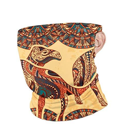 Niet van toepassing Nekband, Multi kleuren Camel Gezicht Sjaal Met Oor Lus, Snelle Droge 12-In 1 Hoofddeksels Voor Atletische Sporting Gym,25x30cm