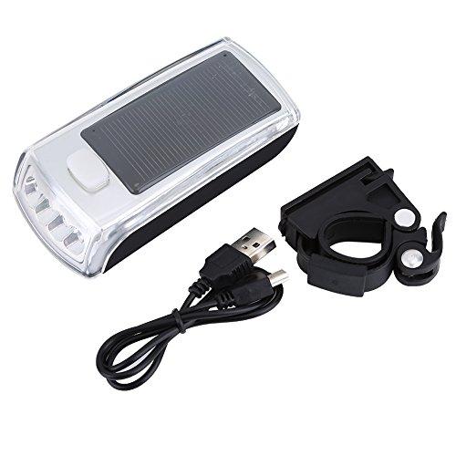 Solar Power USB Frontlenker Licht Straßenrad Sicherheit Taschenlampe Licht Wasserdicht Fahrrad Scheinwerfer Taschenlampe Scheinwerfer