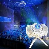 Proyector Estrellas con Soporte para Trípode y Altavoces Dobles Proyectos Cielo Nocturno Galaxia con Nebula Star y Earth Alimentado por USB