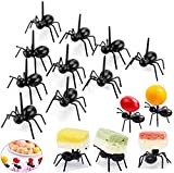OOTSR Postre de Fruta palillo de Dientes Forks para el hogar Decoración del Partido Las Hormigas de plástico Animales Aperitivo Forks 24 Piezas Negro de Cocina Tenedores de Partido de la Barra