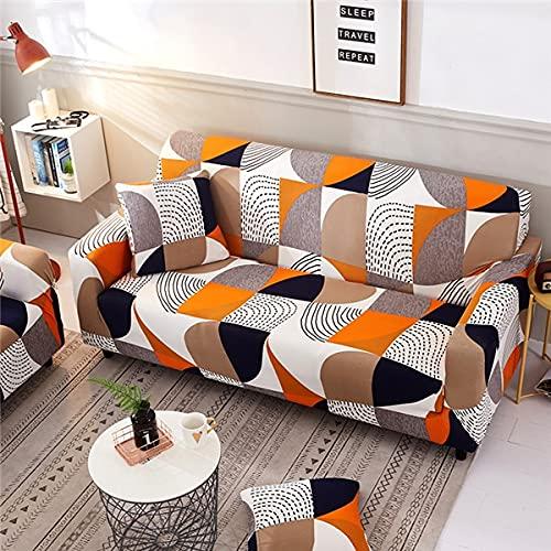 WXQY Eng gewickelte elastische Sofa-Schutzhülle kombinierte rutschfeste Sofabezug Haustierschutz-Sofa-Schutzhülle A7 4-Sitzer