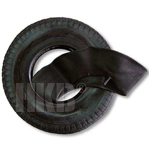 HKB ® 6 ply Reifen plus Schlauch im Set, Mantel Decke Ersatzrad für Handwagen Schubkarre Quad 4,00-8 400 V9072001, Artikel-Nr. 420052, 6 lagig !!