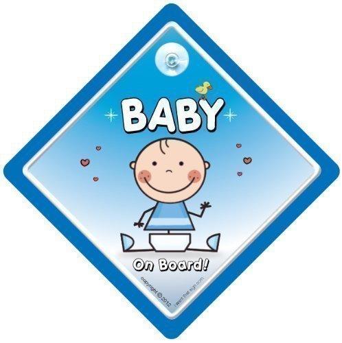 Baby On Board Panneau bébé à bord bleu bébé, Bébé Voiture Autocollant mural en vinyle Motif, petit-fils ou petite-fille à bord, On Board \