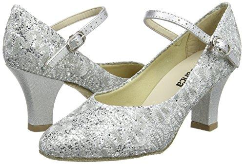 So Danca Bl166, Damen Tanzschuhe-Standard & Latein, Silber (Silver Sparkle), 39.5/40 EU (6.5 UK) - 5