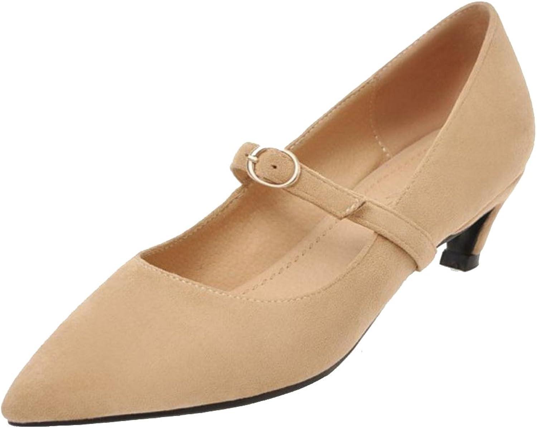 AicciAizzi Women Mid Heel Pumps shoes Pointed Toe