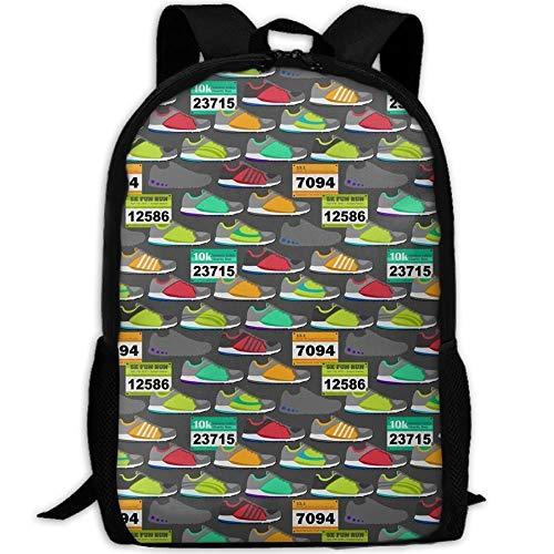 Wfispiy Laufschuhe Rennen Lätzchen Stilvolle Laptop Rucksack Schulrucksack Bookbags College Taschen Daypack