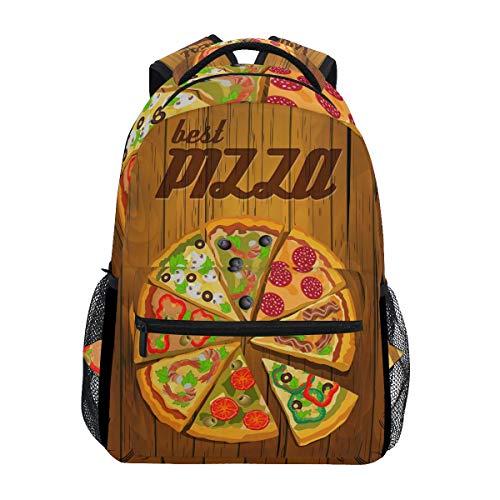 Brighter Best Pizza On The Board Backpack Students Shoulder Bags Travel Bag College School Backpacks