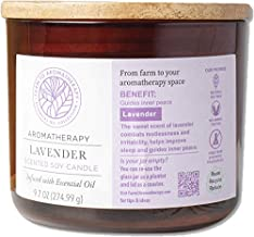 Farm to Aromatherapy 2-Wick Candle with Wooden Lid, Lavender: Clean, Pure & Long Burning, Stress Relief, Wellness, Peace, Tranquil, Combats Restlessness & Irritability, Therapuetic Qualities, 9.7 Oz.