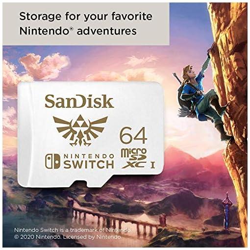 SanDisk microSDXC UHS-I Tarjeta para Nintendo Switch 64GB, Producto con Licencia de Nintendo 7