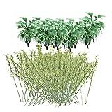 Sharplace 10x Modelo de Árboles de Plásticos Plantas de Paisaje de Escala 1: 200 Modelo...