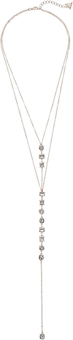 GUESS - Dainty Stone Y Necklace