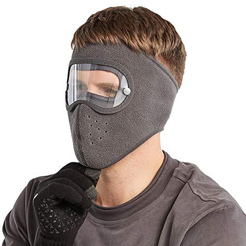 LOXBEE Protección facial antivaho a prueba de polvo, protección integral para la cara con gafas extraíbles.