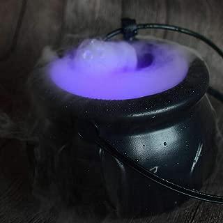 YINGBO Halloween Witch Cauldron Fog Maker,12 LED Cauldron Smoking,Halloween Decorations