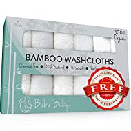 Bamboo Baby Washcloths - Dual Layer Ultra Soft Face Cloth - Organic Bamboo Towel Set - Absorbent Wash Cloths - Gentle on Sensitive Skin - Baby Registry & Shower Gift -White, 6 Pack