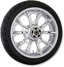Coastal Moto METLGO185CH Precision Cast Largo 3D Rear Wheel with Tire - 18x5.5 - Chrome