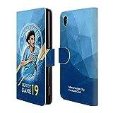 Head Case Designs Offizielle Manchester City Man City FC Leroy Sané 2018/19 Erstes Team Leder Brieftaschen Huelle kompatibel mit Sony Xperia M4 Aqua