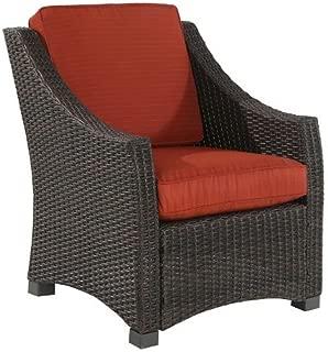 Belvedere Wicker/Steel Club Chair - Orange
