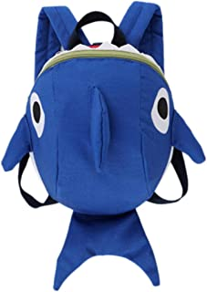 Vacally 子供 キッズ バッグ 子供 かわいい 漫画サメ 動物 スクールバッグ バックパック 幼稚園 通園 入園 入学 低学年 男の子 女の子 遠足 お祝い プレゼント