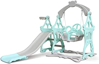 Toddler Climber and Swing Set Combination of Swing Slide with Basketball Hoop for Outdoor & Indoor & Garden Playground