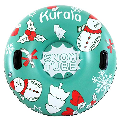 Kurala 47 Inches Inflatable Snow Tube with Handles for Sledding Heavy Duty Winter Toy for Kids...
