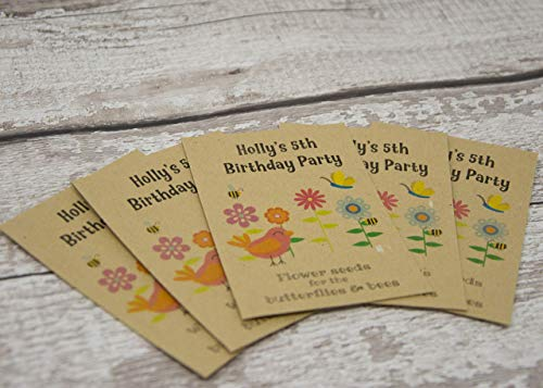 Personalised Birthday Favour Wildflower Seed Packet - Birthday Party Favour