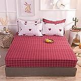 CDDKJDS 1 colchón de cama de impresión 100% algodón con cuatro esquinas y banda elástica (color: Xinxinnianian, tamaño: 120 x 200 x 25 cm)
