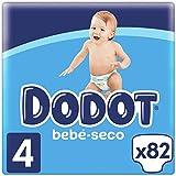 Dodot Bebé-Seco Pañales Talla 4, 82 Pañales, 9-14kg, Hasta 12h de Protección Anti-fugas